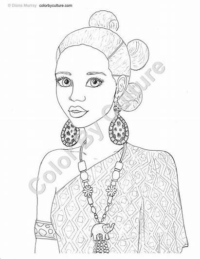 African Coloring American Natural Printable Adults Adult