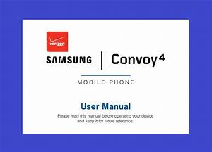 Samsung Convoy 4 User Manual For Verizon  Model Sm