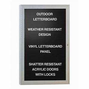 indoor enclosed aluminum changeable letter boards brite With removable letter board
