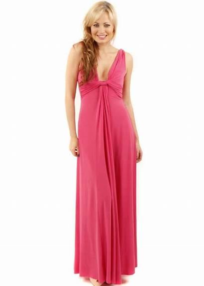Maxi Pink Grecian Designer Dresses Draped Column