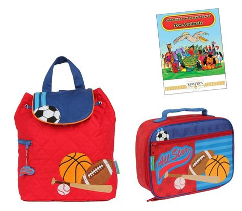 stephen joseph quilted backpack lunch box set toddler 618 | 821489797 o