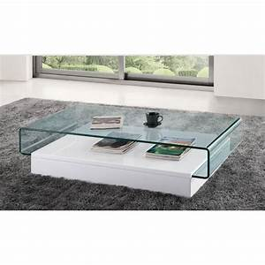Table Basse Design Verre : table basse design en verre danae blanc achat vente table basse table basse design en ~ Teatrodelosmanantiales.com Idées de Décoration