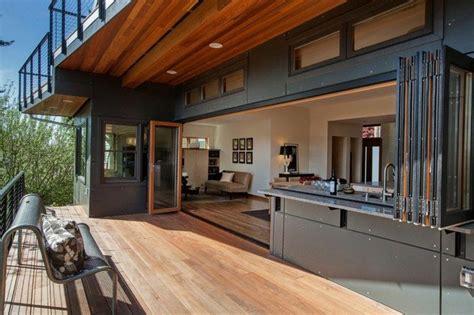 salon  cuisine ouverts sur lexterieur maison