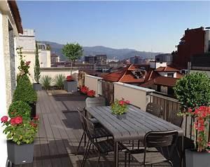 Aménager Une Terrasse : am nager une grande terrasse en ville monjardin ~ Melissatoandfro.com Idées de Décoration