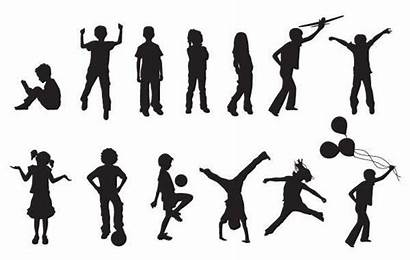 Vector Silhouettes Children Silhouette Vectors Clip Clipart