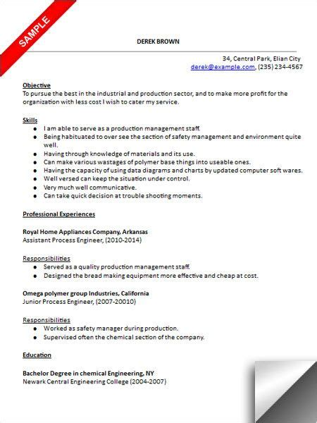 Process Engineer Resume by 157 Best Images About Resume Exles On Entry
