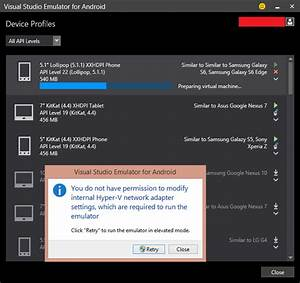 What Do You Have To Offer Visual Studio Emulator For Android Hyper V No Launch