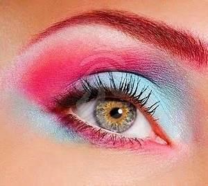 Neon eye makeup Neon eyeshadow Neon make up
