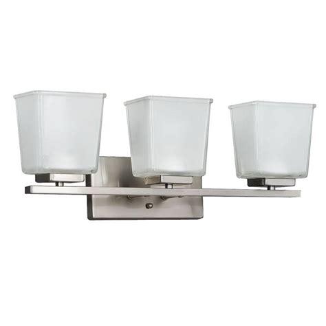 3 light brushed nickel vanity wall fixture v432nk03 the