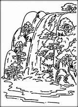 Wasserfall Ausmalbilder sketch template