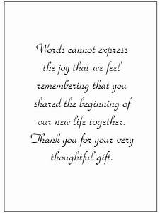 thank you for wedding google search wedding ideas With thank you notes for wedding gifts templates