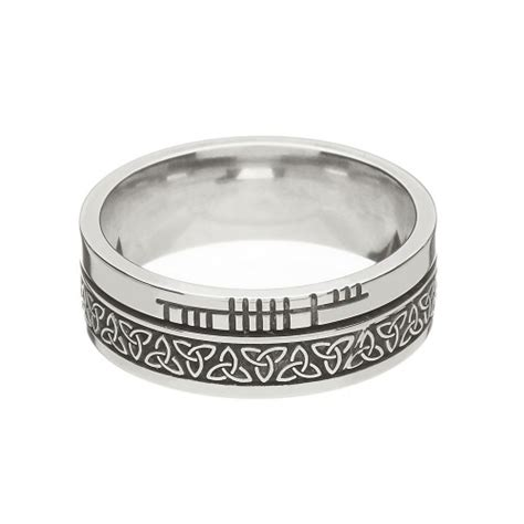 sterling silver knot faith wedding ring