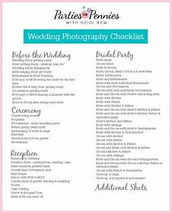 wedding photography checklist parties for pennies With wedding photography checklist printable