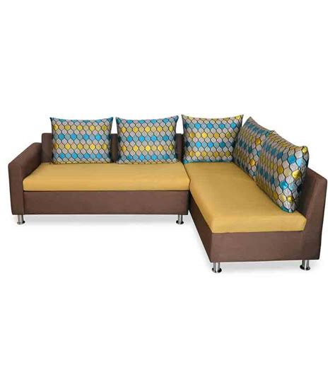nilkamal georgetown fabric l shape sofa buy online at