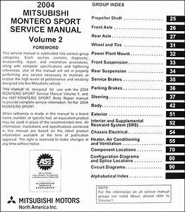 2004 Mitsubishi Montero Sport Original Repair Shop Manual Set
