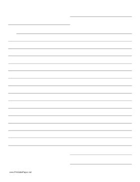 printable friendly letter template