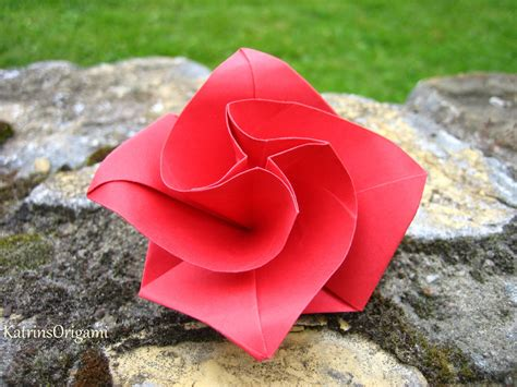origami spinne falten origami diamondrose squarejumper spinner