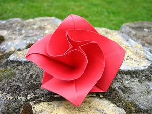 Rose Aus Serviette Drehen : origami diamondrose squarejumper spinner youtube ~ Frokenaadalensverden.com Haus und Dekorationen