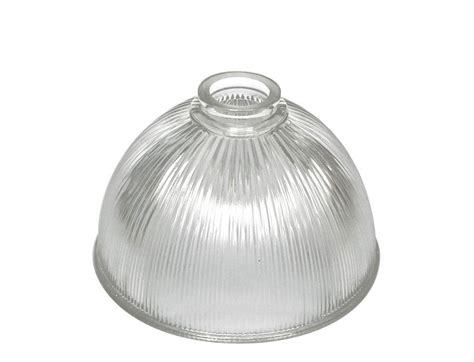 dome prismatic reeded clear glass holophane light shade