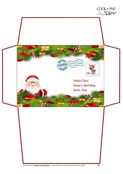 printable santa envelopes north pole christmas