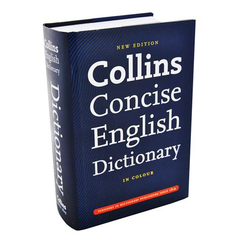 dictionary for collins concise english dictionary dictionaries thesauri at the works