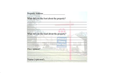 broker open house feedback form broker open house feedback form for the home pinterest
