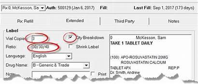 Prescription Quantity Fill Button Filling Rx Breakdown