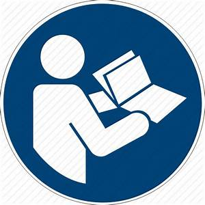 Book  Follow  Instructions  Iso  Manual  Notebook  Read Icon
