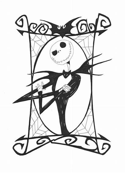 Nightmare Christmas Before Jack Clipart Coloring Pages