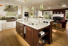 Newly Remodeled Kitchen Kitchen Remodeling Has Pictures Of Kitchens Featuring Cream Or Antique White Kitchen Country Kitchen Design Pictures And Decorating Ideas Concrete Countertops With Granite Material And Small Shape To Easy