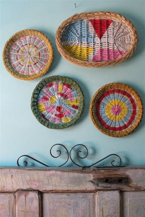 painted basket wall art skip   lou