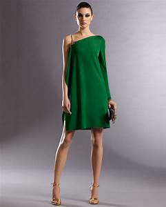 Gucci Asymmetric Dress in Green | Lyst
