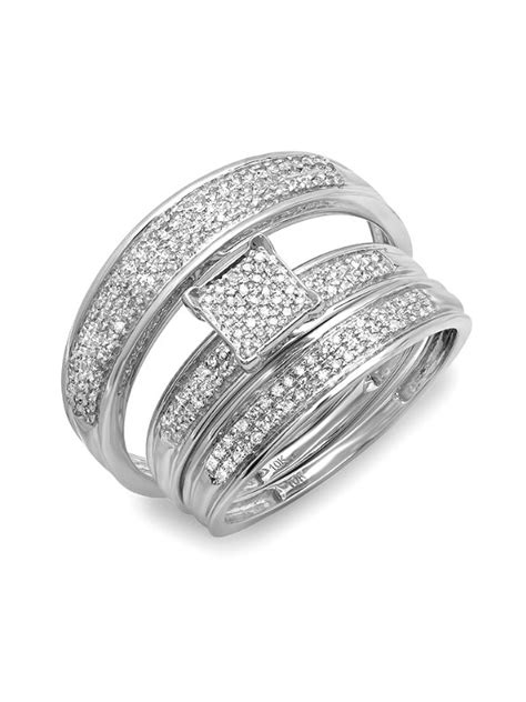 cheap trio wedding ring sets wedding ideas  wedding