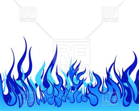 blue fire border background vector image  backgrounds