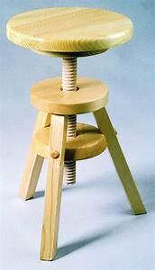 Tabouret En Bois Pas Cher : tabouret en bois reglable design en image ~ Teatrodelosmanantiales.com Idées de Décoration