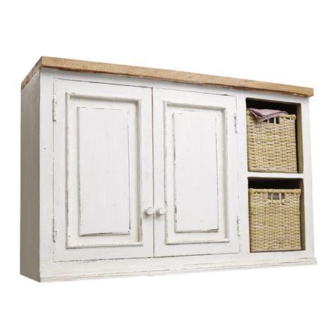 meuble haut cuisine bois meuble haut de cuisine en manguier ivoire l 100 cm