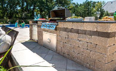 unilock grill island unilock grills and grill islands station landscape