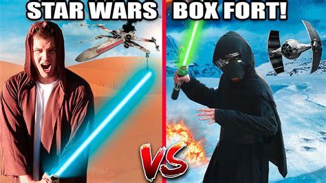 Star Wars Box Fort Wars!! 📦 (nerf War)