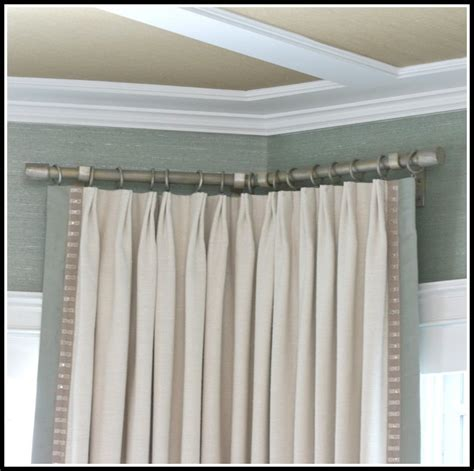 l shaped shower rod l shaped curtain rod for corner window curtains home