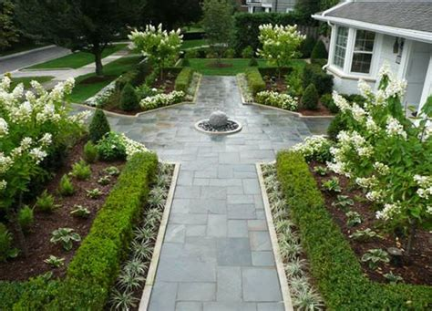front walkway garden plans boxwood white flowers bloomfield porch brick paver installation construction services