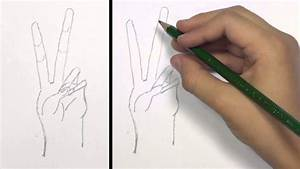 How to Draw a Peace Hand Sign: KidVid | TAT - YouTube