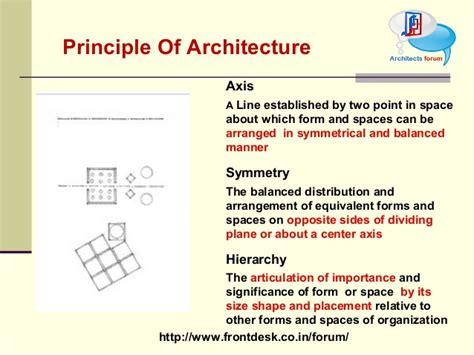 principle  architecture