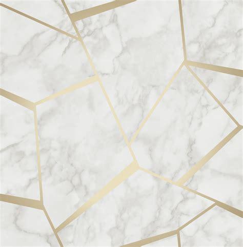 Fine Decor Fractal Marble Wallpaper Fd42265 Gold