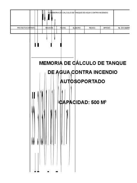 Memoria de Cálculo Tanque API 650 | Mecánica Continua