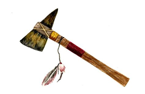 native american tomahawk painting by michael vigliotti
