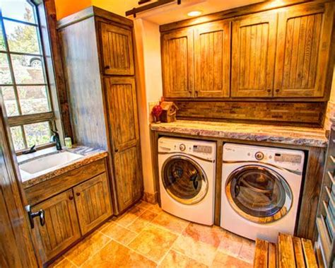 rustic cabinets for laundry room best rustic laundry room with distressed cabinets design