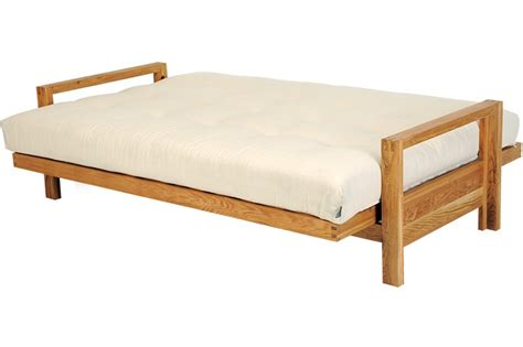 Futon company single seater solid oak sofa bed 'loop', upgraded comfort mattress. 3 Seater Sofa Bed Solid Oak wood SPC | Futon Company