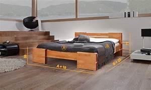 But Lit 2 Personnes : lit en bois naturel 2 personnes deux finitions disponibles ~ Teatrodelosmanantiales.com Idées de Décoration