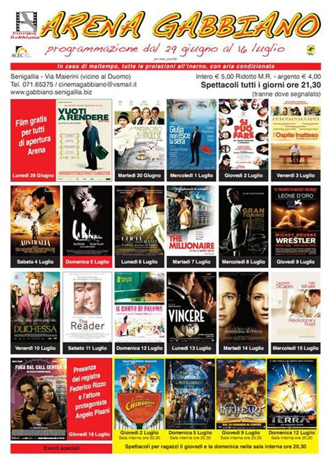 Cinema Il Gabbiano Senigallia Senigallia Arena Gabbiano Ritorna Il Cinema All Aperto