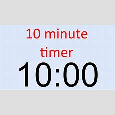 10 Minute Timer Youtube